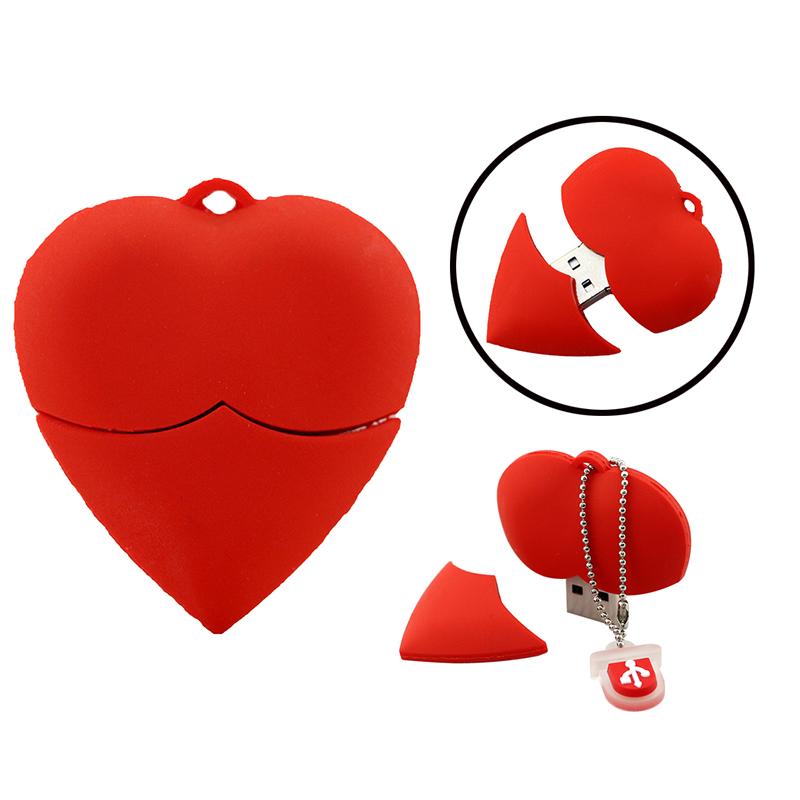 U Disk pen drive cartoon red heart best gift 4gb/8gb/16gb/32gb/64gb bulk usb flash drive flash memory stick pendrive mini(China (Mainland))