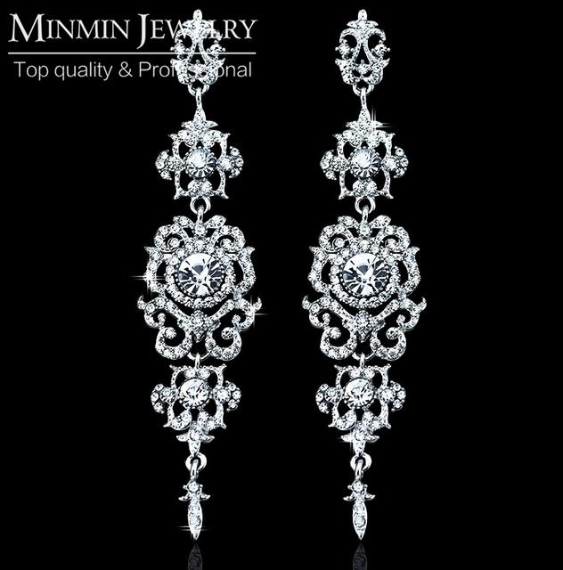 Старинные картины с серьги Высокое качество белый позолоченные новобрачных серьги для женщин мода ювелирных изделий EH182