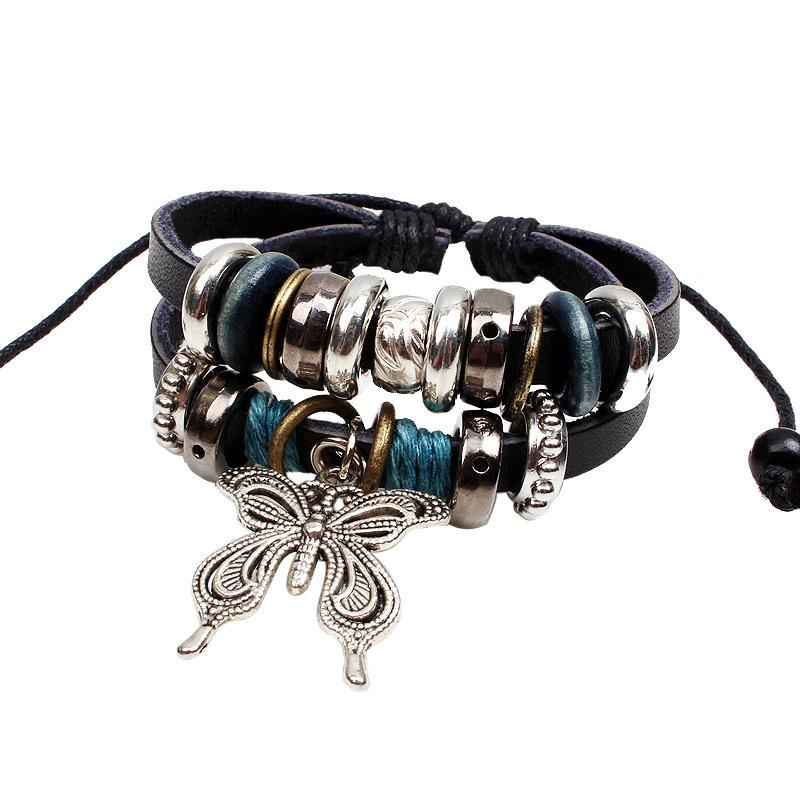 3 Types Butterfly Pendant Metal Wooden Beads Handmade ...