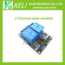 Free Shipping 1PCS/LOT 5V 2 Channel Relay Module Shield for Arduino ARM PIC AVR DSP Electronic