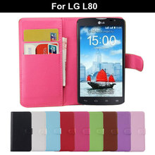 Business PU Leather Stand Wallet Dustproof Flip Protective Case for LG L80 D380 D373 Phone Cover Shell for LG L 80 6 Colors