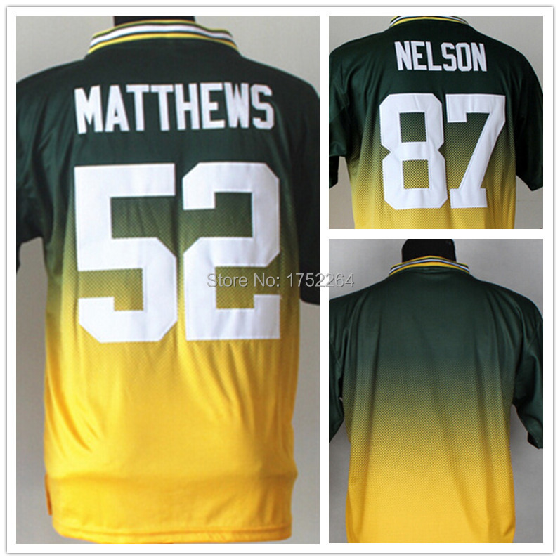 Cheap Men's Drift Fashion II Elite American Football Jersey 52 Clay Matthews 87 Jordy Nelson Blank No Name Stitched Rugby Jersey(China (Mainland))