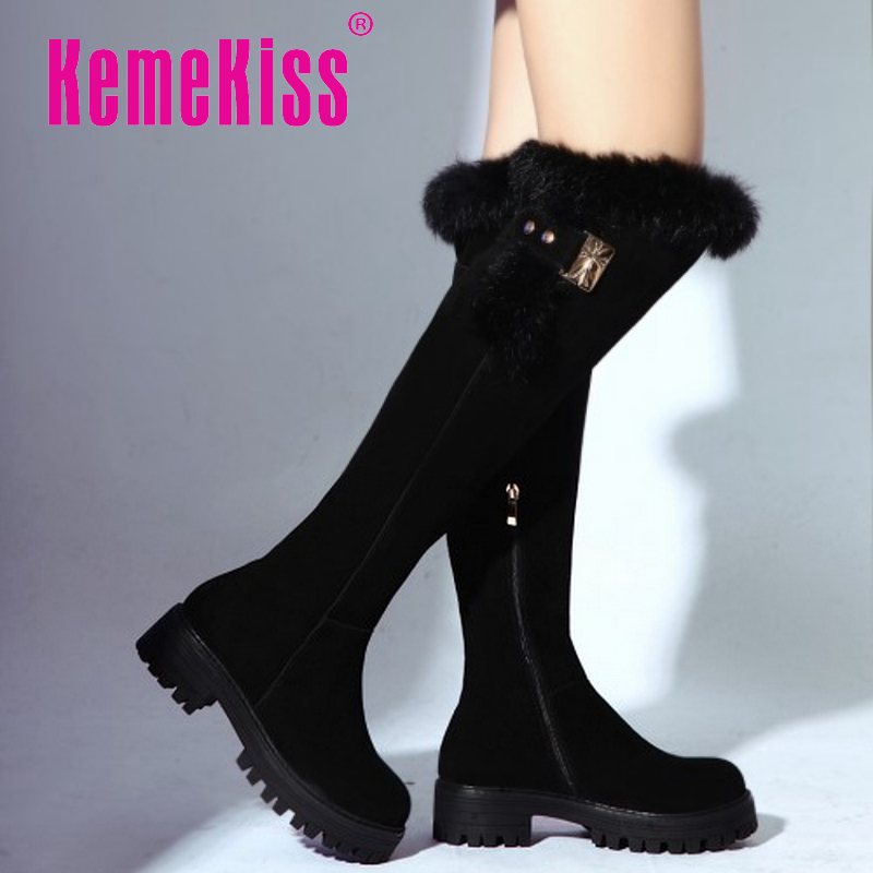 women real genuine leather high heels over knee boots platform long boot winter botas brand warm footwear shoes R7509 size 34-39<br><br>Aliexpress