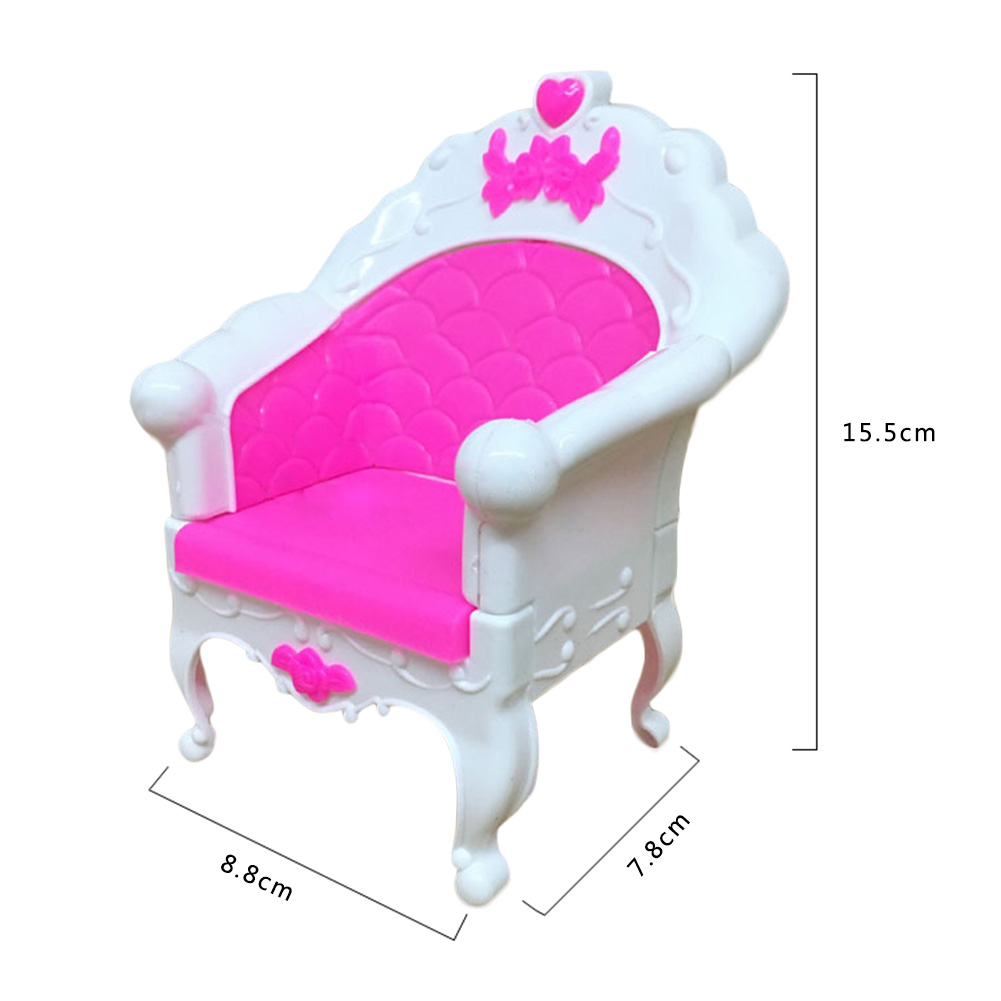 2017 6PCS SET Barbie Dimension Dollhouse Dwelling Room Grand Parlour Couch Set Greatest New Yr Presents for Youngsters Presents
