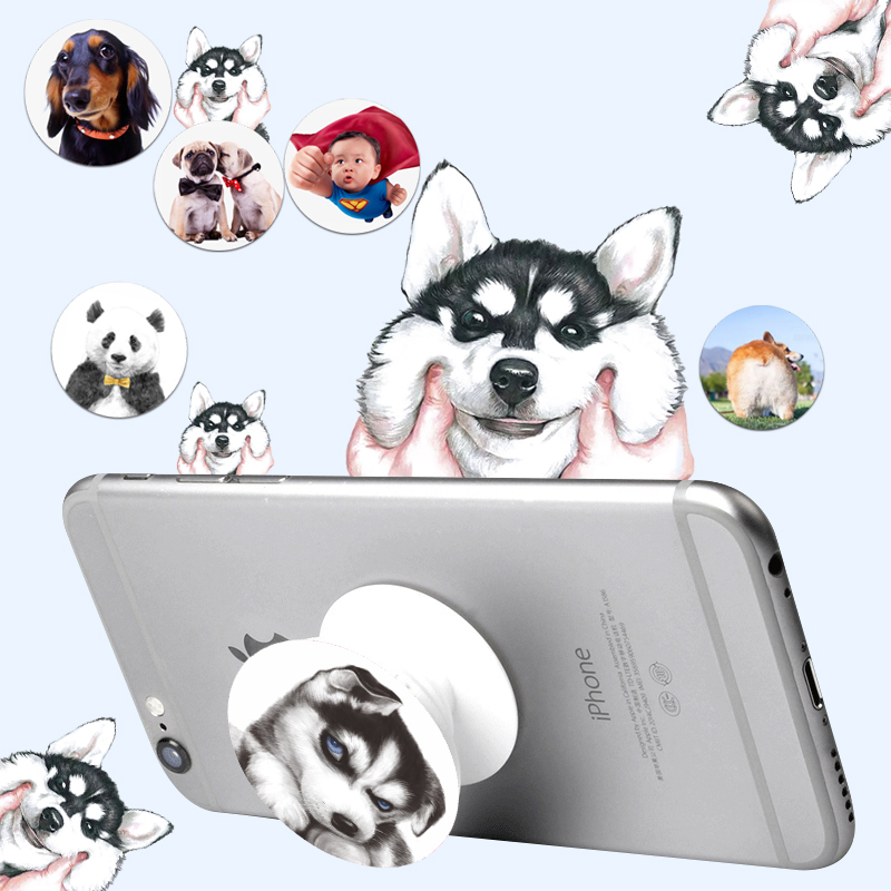 Cute Animal Universal Holder Expanding Stand Grip Mobile Pop Phone Socket Mount For Smartphone Tablets For iPhone Xiaomi Samsun(China (Mainland))