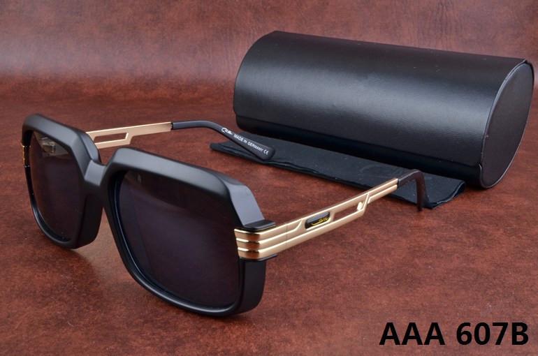2015 New Caz Sunglasses 607 Matt Black acetate Sunglasses for Men Original packing box oculos de s(China (Mainland))