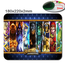 Fast Printing Custom Game Hearthstone Design High Quality Skid Durable Fashion Computer and Laptop Gaming Mouse Pad(China (Mainland))
