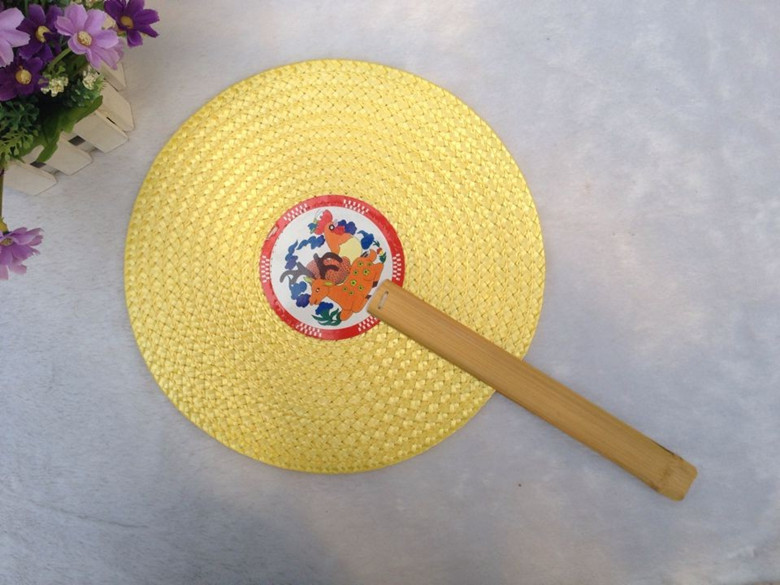 Whosale Chinese Style Handmade Hand Fan All Natural Rattan Straw Weaving Cooling Anti-mosquito Fan Home Decor Straw Ware(China (Mainland))