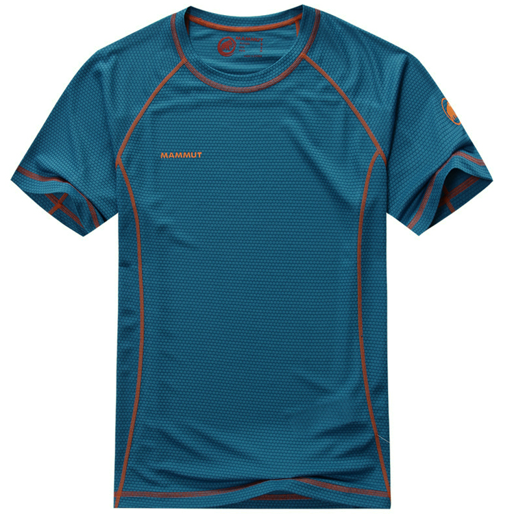 Free Shippng 2015 Men outdoor quick-dry t shirt Fitness Bodybuilding Clothing Men Outdoor Sports Muscle Casual Short(China (Mainland))