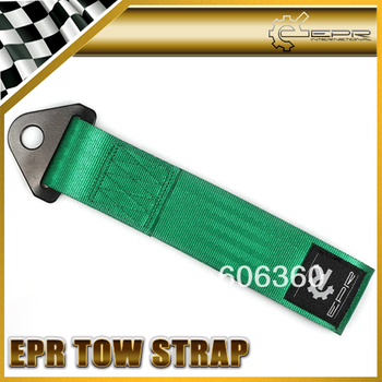 EPR Green Tow Eye Strap Tow Loop Strap Racing Drift Rally Emergency Tool 21.5cm UNIVERSAL FIT