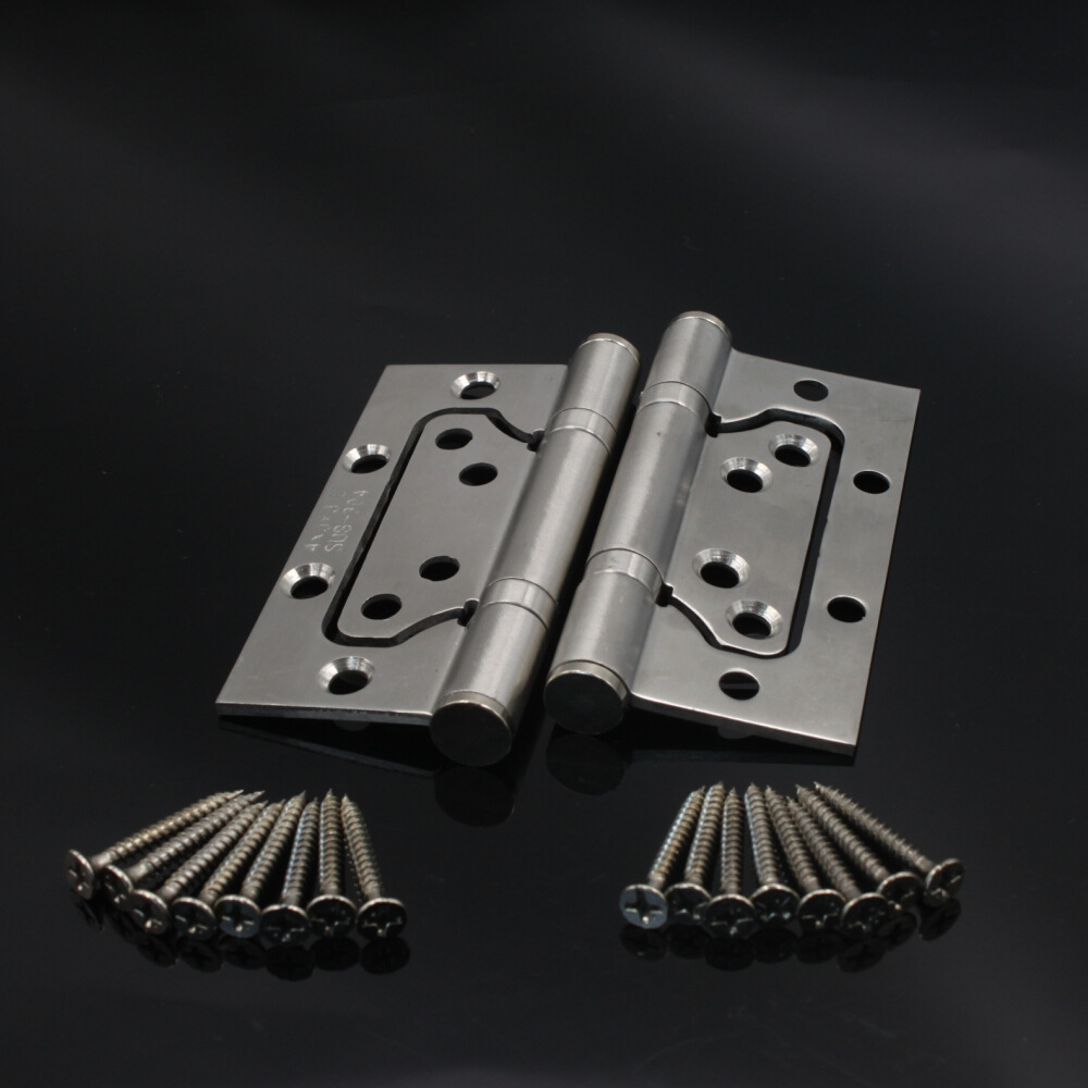 Thickened Bearing Hinges 4 Inch Slot Free Buffer Lash Hinge Stainless Steel Wire Drawing Folded Sheet(China (Mainland))