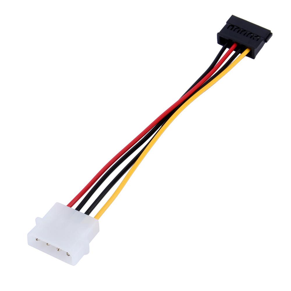 4 Pin IDE Male to 15 Pin Serial ATA SATA Hard Drive Adapter Power Cable CD ROM Drives Supply Cable(China (Mainland))