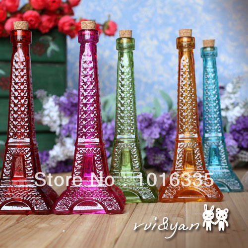 Free shipping Multicolour tower style glass crystal vase essential oil bottle perfume bottle(China (Mainland))