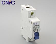 3шт DZ47-1P-6A 230 / 400 В ~ 50 / 60 HZ миниатюрное выключатель DZ47-63 предохранитель от перегрузки