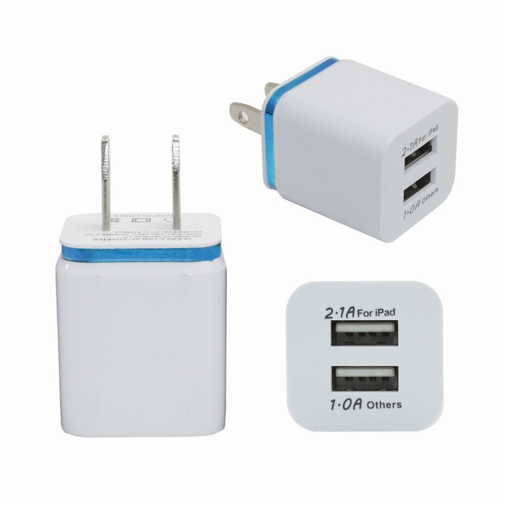 Home Travel Dual USB Charger 2 Port Universal AC Wall Charger for iPhone 6 5 5c 5S Android Samsung Galaxy HTC Apple iPad iPod 2A(China (Mainland))