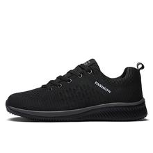 2018 nuevo de malla de los hombres Zapatos casuales Zapatos de Lac-hombres Zapatos ligeros cómodo transpirable caminando zapatillas de Tenis femenino Zapatos(China)