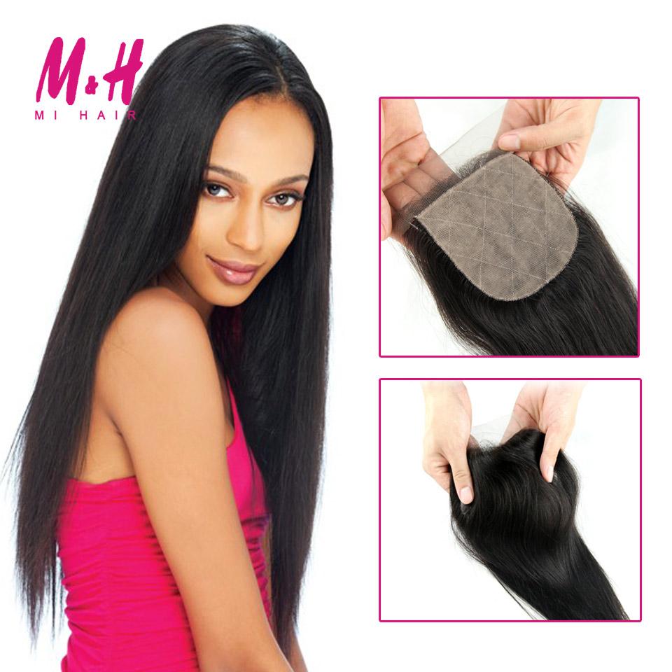 Brazilian Virgin Hair Straight Silk Base Closure Ali Queen Hair Cheap 4*4 Free/ Middle /3 Part Silk Base Closure Hair Extensions<br><br>Aliexpress