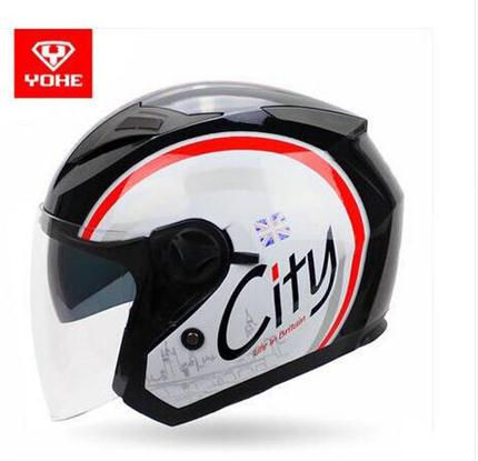 Fashion YOHE dual lens Motorcycle helmet YH-868 Fine designed Motorcycle helmet with electric bicycle half helmet unisex(China (Mainland))