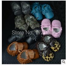 Fashion cute Leopard grain Handsome Newborn Baby Moccasins Soft Moccs Kids Soft Soled Infant Shoes Baby Prewalker Tassels(China (Mainland))