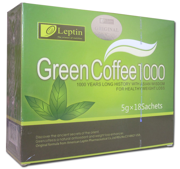 1 Box 18 Bags Leptin Instant Coffee High Speed Slimming Coffee 100 Green Coffee