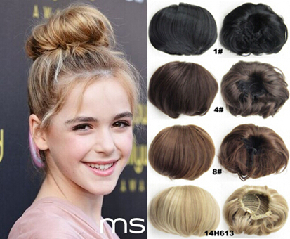 80g Women's hair Bun Pad Cover Synthetic scrunchie donuts Chignon hair pieces #9/19 Light Brown/Medium Blonde(China (Mainland))