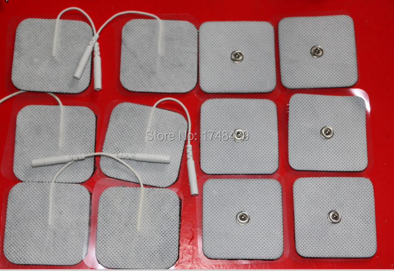 12PCS TENS Massager Electrode Pads for Digital Slimming Body Massager (6PCS 3.5mm Snap+6PCS with 2.0mm Connecting hole )(China (Mainland))