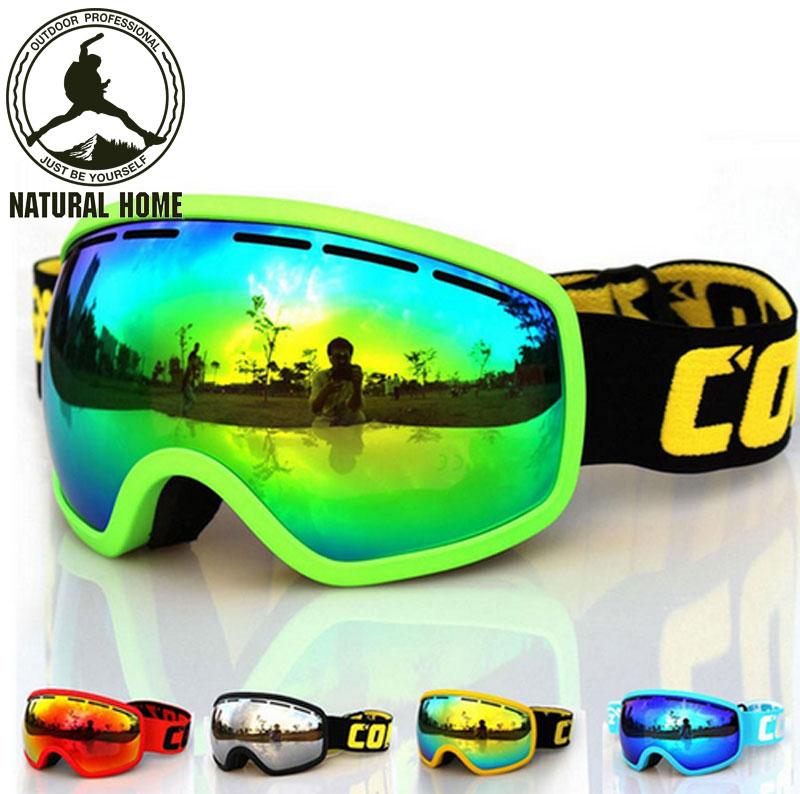 [NaturalHome] Brand COPOZZ Professional Men' Women' Snow goggle Ski Goggles Double Lens Anti-fog UV400 Glasses Skiing Snowboard(China (Mainland))
