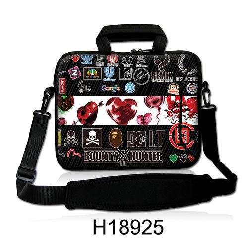 "Balloon And Logos Model Neoprene Computer Sling Carring Kits10""13""14""15""17""Laptop Handle Messenger Shoulder Satchel Bag For ASUS(China (Mainland))"