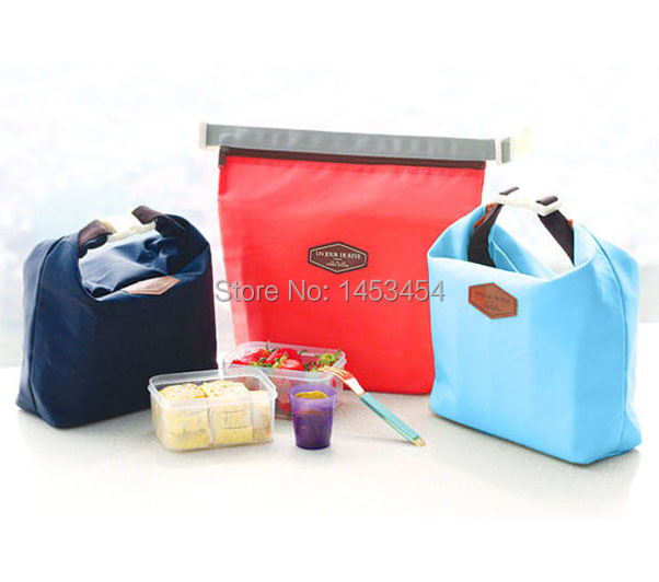 Lunch Bags thermo thermal Cooler Insulated bag nylon Lunch Bags Outdoor Food Container high quality candy color free shipping(China (Mainland))