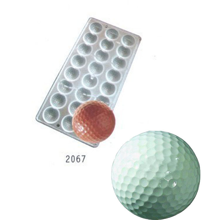 Golf Ball sport sports Polycarbonate Chocolate Mould PC Mold Sugarcraft Suger Craft tools(China (Mainland))