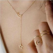 Moda moda casual personalidade círculo lariat pingente de ouro cor colar de alta qualidade simples gargantilha colares feminino(China)