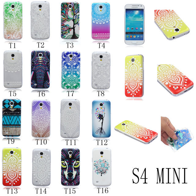 New Arrival Super Slim Thin Soft TPU Case Silicon Back Cover For Samsung Galaxy S4 MINI Phone Cases For S4MINI I9190(China (Mainland))