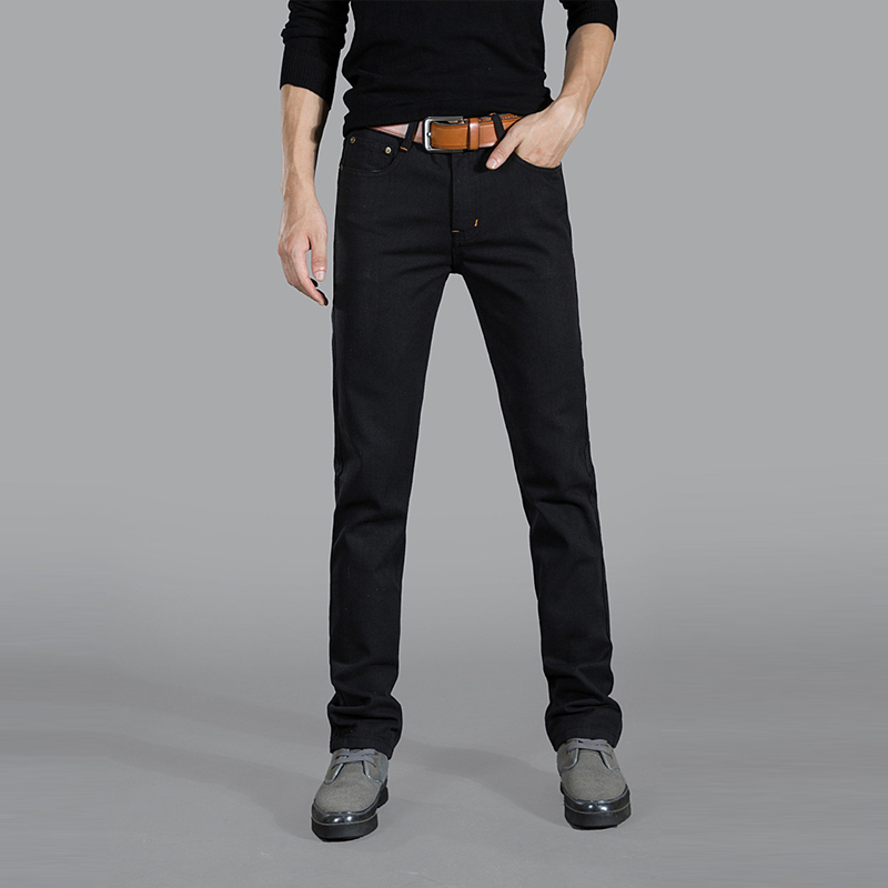 Гаджет  Business and Casual, both ! good quality cotton mens jeans, Fashion Business jeans men, Straight Slim men jeans #306 None Одежда и аксессуары