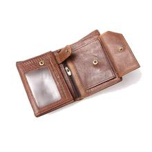 2015 Vintage Men Wallets Brand Leather Purse Wallet 100 Genuine With Passport Place Multi Card Purses