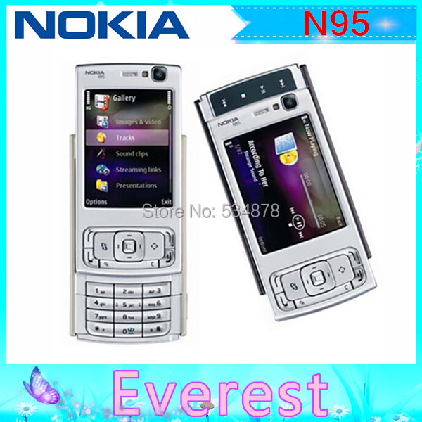 N95 Original Nokia N95 WIFI GPS 5MP 2.6''Screen WIFI 3G Unlocked Mobile Phone(China (Mainland))