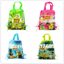 New 2014 12Pcs Despicable Me 2 children School Bags  Cartoon Backpack shopping bag printing backpack party favor,mochila(China (Mainland))