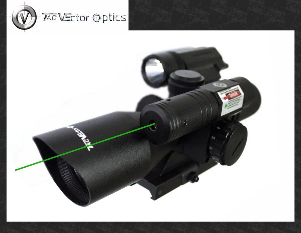 Vector Optics Shooting 2.5-10x40 Green Laser Rifle Scope with 200 Lumens Flashlight Gun Combo Sight<br><br>Aliexpress