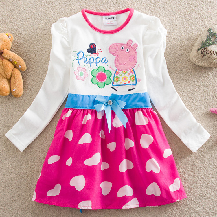 The new 2015 little girl pepe pig jacket size, free shipping B901(China (Mainland))