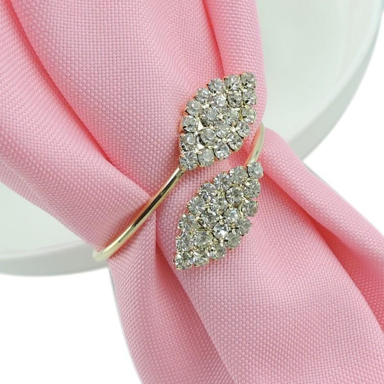 /lote diamants de cristal rond de Serviette / Wrap Serviette mariage ...