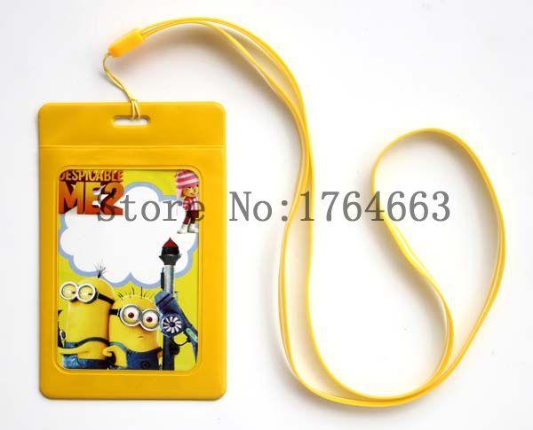 Free Shipping a lot of 10 pcs Good quality New Cartoon Mobile phone bags Neck Straps Lanyard phone lanyard yellow(China (Mainland))