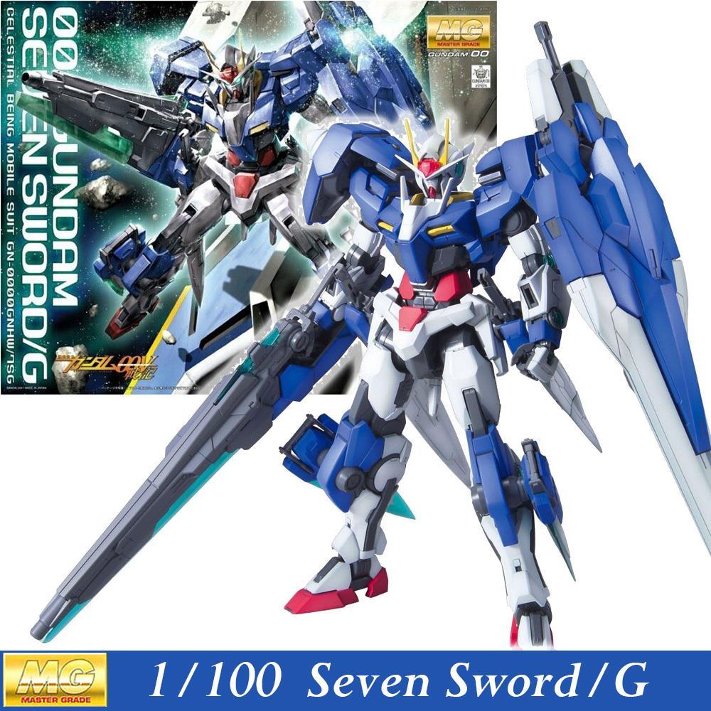 Daban Model MG Gundam 00 GN-0000/7S Seven Sword/G 1/100 Master Grade Assembled Hobby Action Figures robots plastic fans toys(China (Mainland))