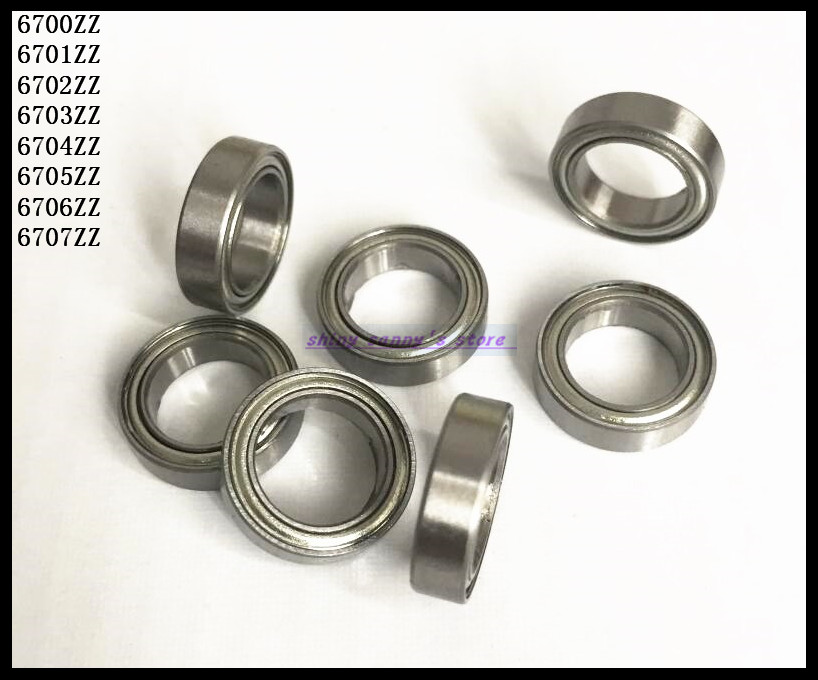 15pcs/Lot 6704ZZ 6704 ZZ 20x27x4mm Thin Wall Deep Groove Ball Bearing Mini Ball Bearing Miniature Bearing Brand New