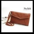 8 Color 2015 New Solid PU Leather Crossbody Women Shoulder Bag Vintage Envelope Women Handbag Brand