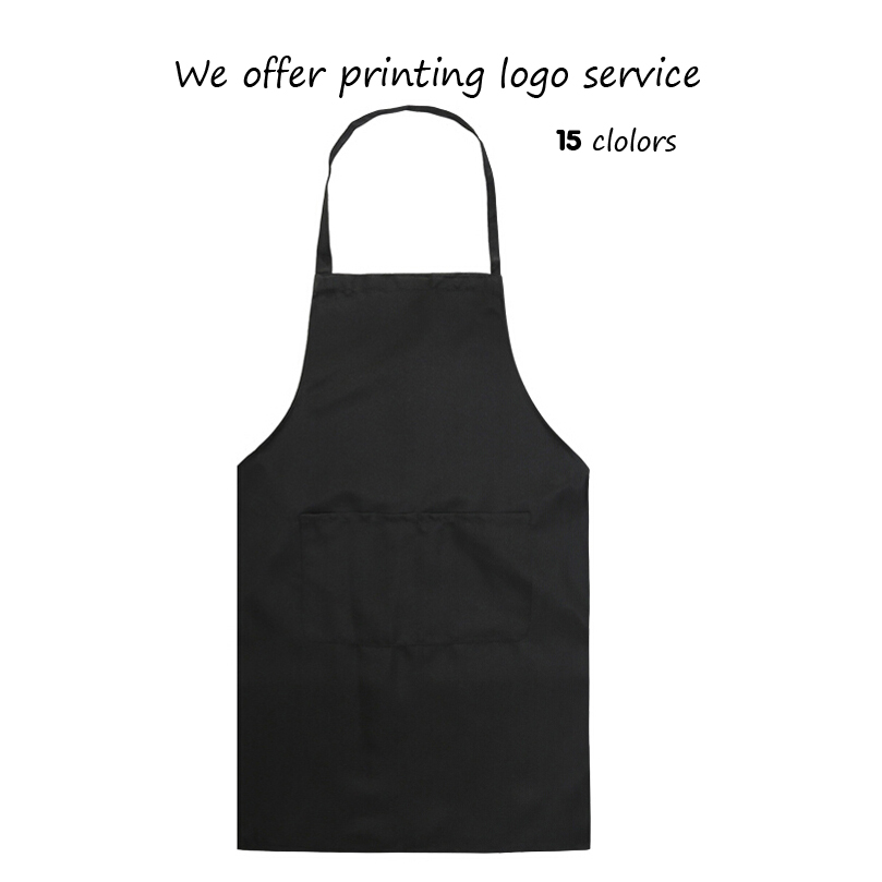 Korean Fashion Women Men Apron Kitchen Cooking Chef Cleaning Restaurant Waitress Apron Custom Printed Logo Gift Aprons Wholesale(China (Mainland))