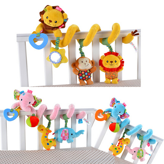 Soft Plush Educational Stuffed Toys Baby Crib Revolves Around The Bed Stroller Playing Toy Lathe hanging Baby Rattles Mobile(China (Mainland))