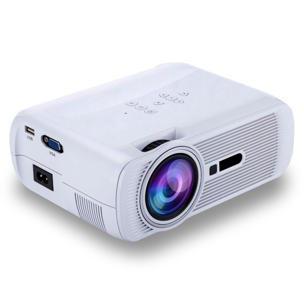 2016 Newest 1000Lumens Cheap Portable HD Home Theater Projector HDMI LCD LED Game PC Digital Mini Projector Gift Red 3D Glasses(China (Mainland))