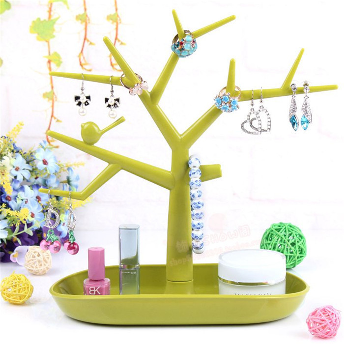 Candy Color Earring Ring Jewelry Tree Stand Display Organizer Holder Show Rack(China (Mainland))