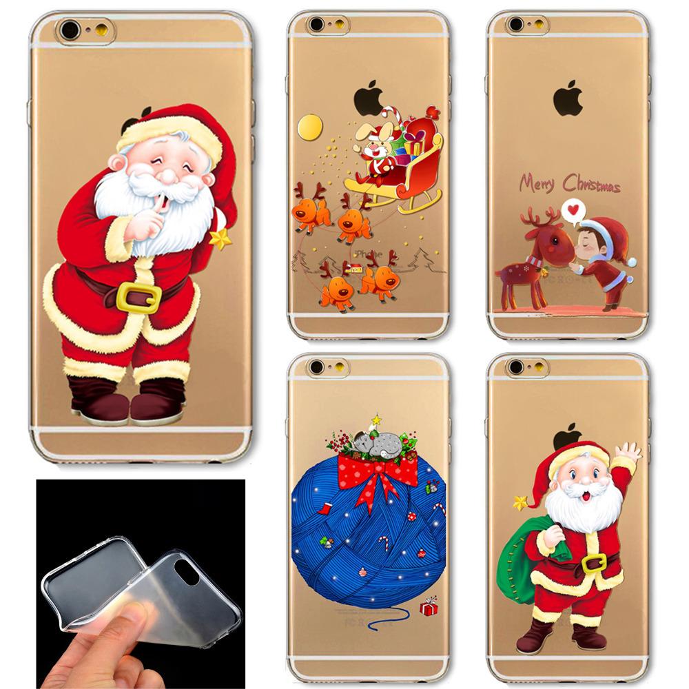 Гаджет  Wonderrful Present Phone Skin Beautiful Cute Father Christmas Pattern Ultra Thin Soft Cover Case For iPhone 6 6S None Телефоны и Телекоммуникации