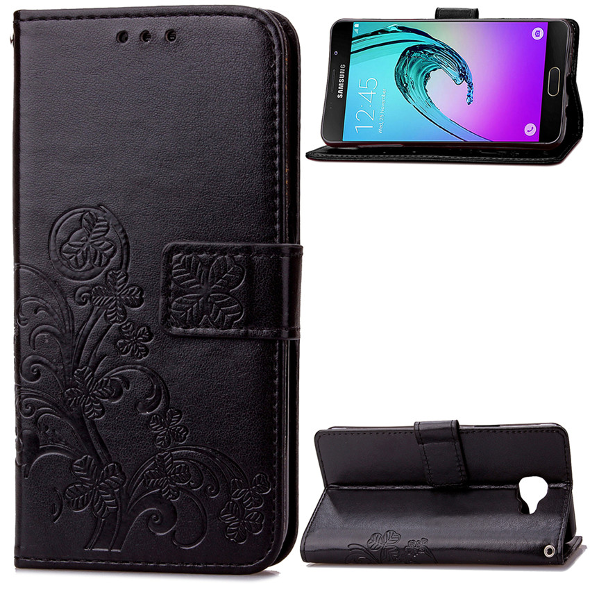 Lucky Clover Design PU leather Wallet Case For Samsung GALAXY A3 2016 A3100 A310F Wallet Card Holder stand Flip Phone Bags cover(China (Mainland))
