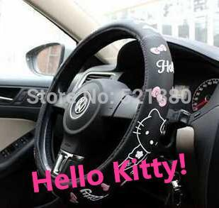 free shipping Hot Selling Popular Cute Girl hello kitty car steering wheel cover ST-4 hello kitty car accessories Z2EB5(China (Mainland))